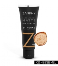 Base Líquida Matte HD Bege Mel Zanphy - 30ml