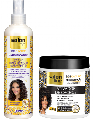 Kit Salon Line Ativador de Cachos + Spray Brilho