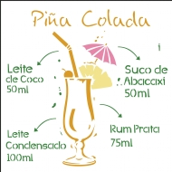 30,5x30,5 Simples - Drink Pinâ Colada - OPA2197