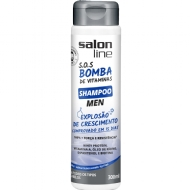 Shampoo S.O.S Bomba Men 2x1 Cabelo e Barba Salon Line - 300ml