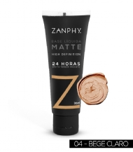 Base Líquida Matte HD Bege Claro Zanphy - 30ml