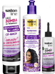 Salon Line Kit Bomba de Crescimento com Co-Wash