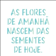 14x14 Simples - Frase As Flores - OPA2213