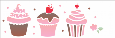 10x30 Simples - Doces Cupcakes - OPA1866