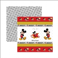 Papel Scrapbook Dupla Face Toke e Crie - Disney Mickey Mouse - SDFD013
