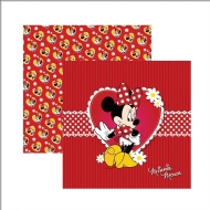 Papel Scrapbook Dupla Face Toke e Crie - Disney Minnie Mouse - SDFD-001