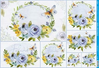 Papel Decoupage - PD-968