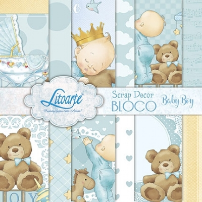 Scrap Decor Bloco Baby Boy
