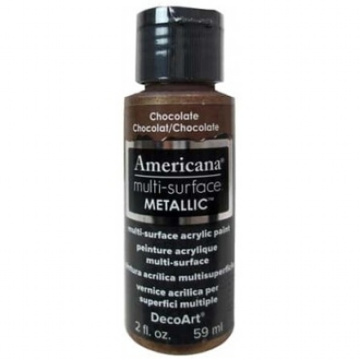 TINTA DECOART AMERICANA MULTI SURFACE METALLIC CHOCOLATE - DA552