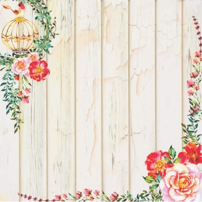 Papel para Scrapbook Dupla Face - Aquarela 3 - SC-392