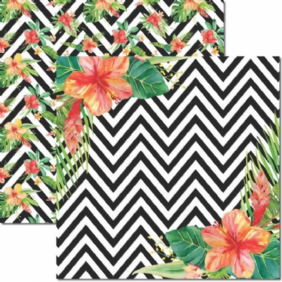 Papel para Scrapbook Dupla Face - Verão Tropical 1 - SC-447