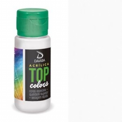 Tinta Acrílica Top Colors - 60 ml - Branco