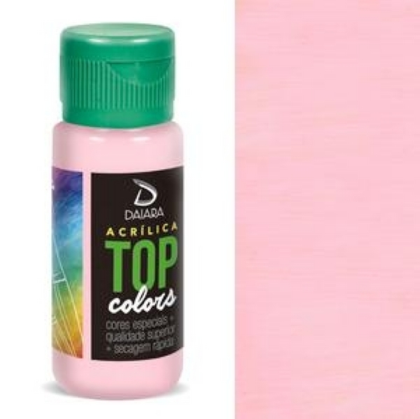 Tinta Acrílica Top Colors - 60 ml - Rosa Soft IMG-905695