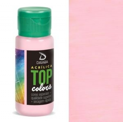 Tinta Acrílica Top Colors - 60 ml - Rosa Soft