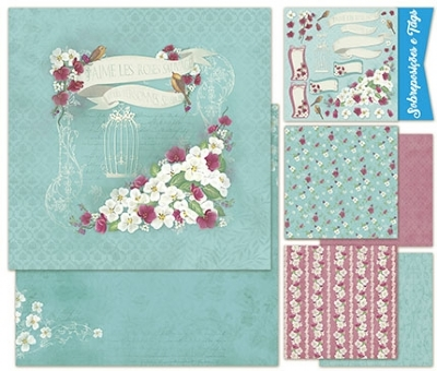 Kit Scrap Decor Romantic Flowers - KSD1-002