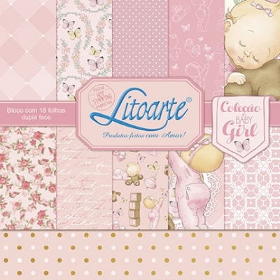 Bloco Scrap Decor Baby Girl - SBD-001