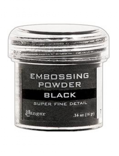 Pó para Embossing Super Fine Detail - Black 16 gr