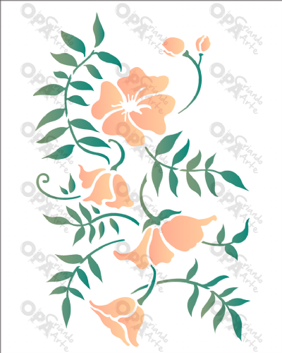 20×25 Simples - Ramo Floral - OPA2634
