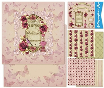 Kit Scrap Decor Romantic Rosas Perfume - KSD-006