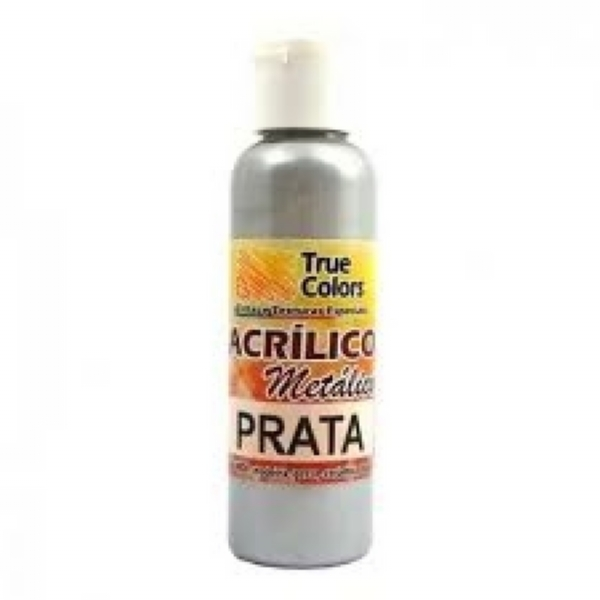 ACRÍLICO METÁLICO PRATA 60ML - True Colors