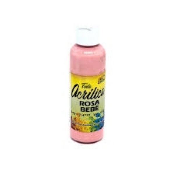 TINTA ACRILICA ROSA BEBE 60 ML - True Colors