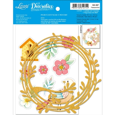 KD-007 - KIT DECORATIVO - PASSARINHO