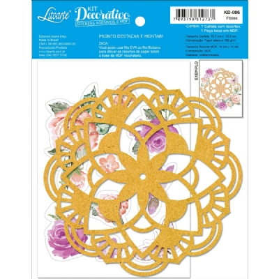 KD-006 - KIT DECORATIVO - FLORES AQUARELA