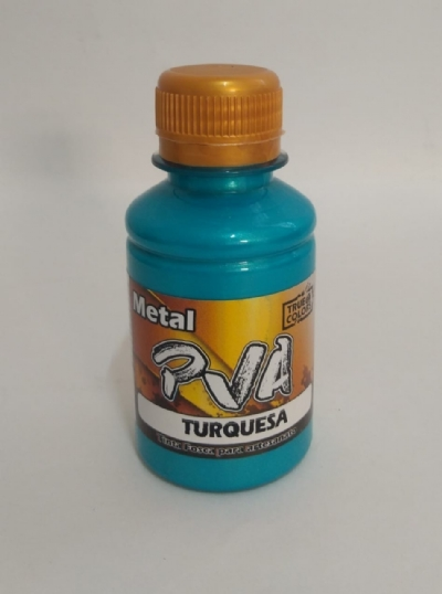 TINTA METAL PVA AZUL TURQUESA 100 ML - True Colors
