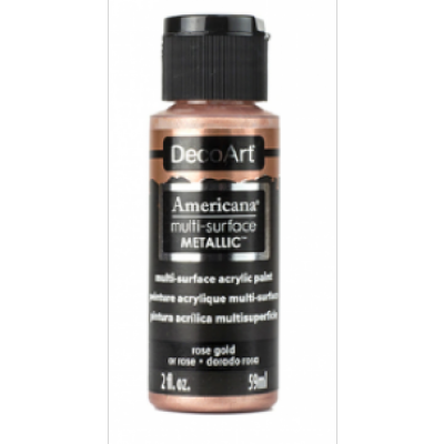 TINTA DECOART AMERICANA MULTI SURFACE METALLIC ROSE GOLD - DA800