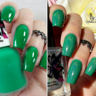 TOP COAT HOLOGRÁFICO .
